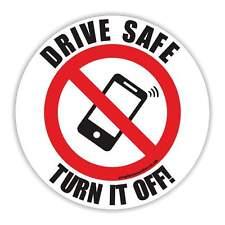 No admite teléfonos móviles Disco Vinilo Pegatina Impermeable seguro coche