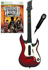 NEW Xbox 360 Guitar Hero 5 Wireless Guitar, GH III Legends of Rock Game Mic Kit