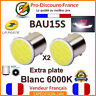 2 x Ampoule LED BAU15S 1156 P21W Blanc Xénon Voiture Feux Recul COB Ampoules