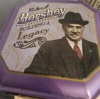 1996 Milton Hershey Building a Legacy Tin Metal Canister  #3 Purple Candy A38