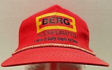 VTG Berg Incorporated Advertiser Roped Red Trucker Ball Cap Hat Snap Back