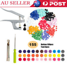 New Snap Plier Fastener 150 Set Plastic Button Press Stud For Cloth Diaper Baby