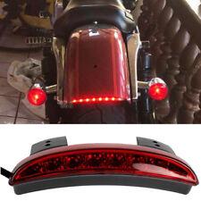 Red Rear LED Tail Lights Brake Stop For Bobber Chopper Cafe Racer Motorcycles US
