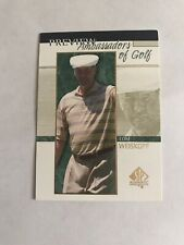 2001 SP Authentic Golf Preview Ambassadors of Golf Tom Weiskopf