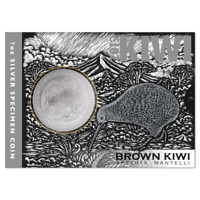 Neuseeland -2019- Silber $1  im Blister Iconic Brown- 1 Unze Brown Kiwi
