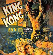 King Kong Fay Wray Póster de Película Vintage Movie Cine Impresión Foto A4