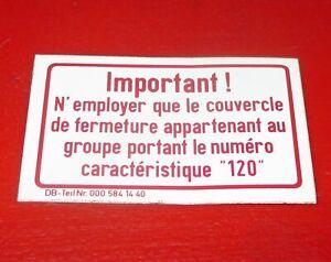 Abziehbild französisch A 000 584 14 40 Mercedes Benz FIN 107 123 124 126 label