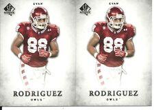 Evan Rodriguez 2 Card Rookie Rc 2012 SP Authentic #28 Temple Owls