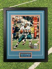 Dan Marino Signed 8x10 Jsa Auto Custom Framed Miami Dolphins