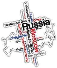 "Russia Moscow Word Cloud Car Bumper Window Mirror Sticker Decal 4""X5"""