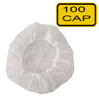 100pc Disposable Hair Net Bouffant Cap for Kitchen Medical Non Woven Head Cover