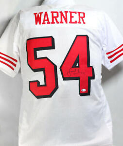 Fred Warner Autographed White Color Rush Pro Style Jersey - Beckett W Auth *4