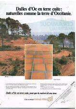 Publicité Advertising 1979 Les dalles d'Oc en terre cuite Guiraud Frères