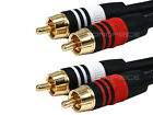 1.5ft Premium 2RCA Male to 2RCA Male Audio Video Cable Gold Plated