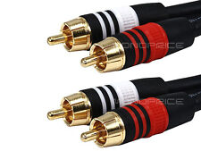 3ft Premium 2RCA Male to 2RCA Male Audio Video Cable Gold Plated