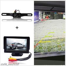 "4.3"" TFT LCD Screen Monitor + Car SUV Rear View Parking License Plate HD Camera"