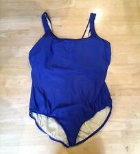 c7e2870c1bdb1 Land's End Womens Swimwear Swimsuit Bathsuit One Piece Blue Swim Size 26w