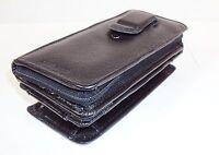 Samsonite Black Leather Cell Phone Holder w/Detachable Zippered Wallet