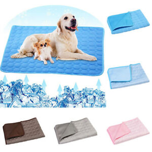 Pet Cooling Mat Comfortable Ice Silk Dog Cool Pad Multi-sizes Bed Cats Cushion