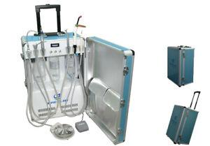 Dental Portable Turbine Unit+Scaler+LED Curing Light+Fiber Handpiece Tube 4 Hole