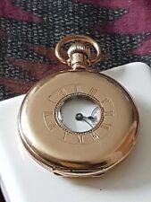 Waltham Traveller Gold Plated Half Hunter Pocket Watch In