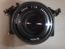 Nikon Nikkormat ELW Black SLR Camera + Auto Winder AW-1 EL + 3 Nikkor Lenses.