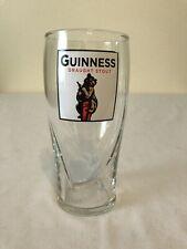 Guinness Draught Stout Bear Emblem Embossed Harp Pint Glass