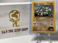 Brock's Rhyhorn 22/132 Rare (Non-Holo) - Gym Heroes - Pokemon TCG 2000 WOTC