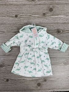 Carters Just One You Baby Boy Dinosaur Bath Robe NWT