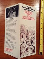 National Baseball Hall of Fame and Museum Guide to Exhibitors Flyer Cooperstown