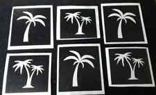 25 x palm tree stencils for etching on glass mixed holiday tropical craft hobby