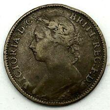 1884 Great Britain Victoria Bronze Farthing KM# 753.