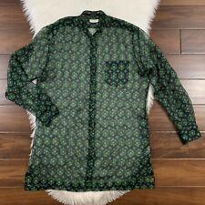 Dries Van Noten Women's Size 42 Green Calybe Silk Chiffon Button Front Blouse