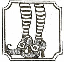 HALLOWEEN WITCH LEGS Wood Mounted Rubber Stamp NORTHWOODS C10061 New