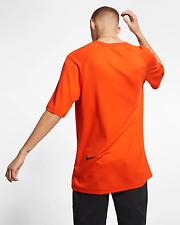 Nike Sportswear Tech Pack Men's Short-Sleeve Top S Orange Black Casual Oversized