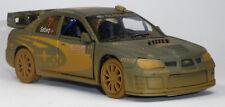 "Subaro Impreza WRC 2007 Rennwagen im Schlamm Sammlermodell 1:36 ""Muddy"" KINSMART"
