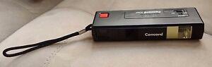 Black Concord 110EF Picture Camera Wrist Strap Auto Focus Flash Vintage 70s Rare