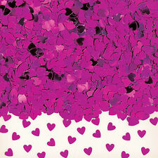 Fuchsia Hot Pink Hearts Table Confetti Wedding Engagement Party Decorations