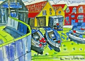 Digital Print of Sheringham Fishing Boats View No 1 by Ann Marie Whitton
