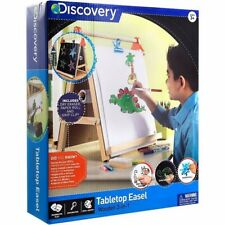 Discovery Kids 3-in-1 Tabletop Dry Erase Chalkboard Painting Art Easel