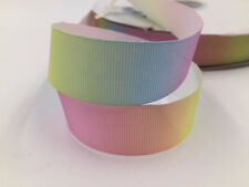 5 Yard 1'' 25mm Ribbon Rainbow color Gradient light color Crafts Sewing Gift