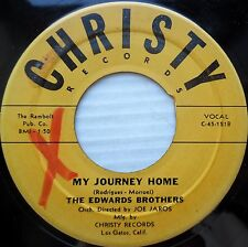 EDWARDS BROTHERS teen 45 MOONGLOW / MY JOURNEY HOME vg+ CHRISTY F277