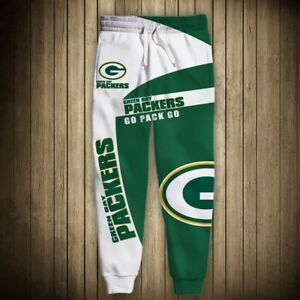 Green Bay Packers Football Sweatpants Jogging Pants Baggy Sport Trousers Gifts