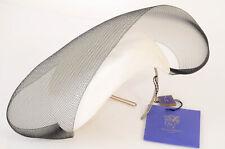 Philip Treacy ivory black OSFA woven straw crinoline fascinator hat NEW $2470