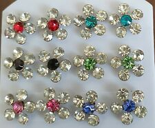 1 pair, various to choose from 6 stone gem blossom earrings x