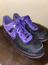 Nike Mens 12 Air Force 1 Barkley Low XXV Sneakers Black Purple