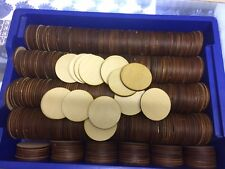 JOB LOT X200 Wooden 6cm Circles crafts, gift tags
