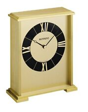Movado gold impressive mantle clock mgo 171m rare collectible  new usa stock