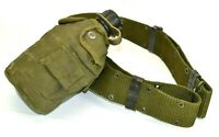 Vintage US Military 1979 Water Canteen Pouch Utility Belt Alice Clips Water