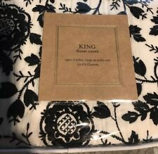 Cupcake and Cashemere Black & White Floral King Duvet Cover & Two Standard Shams